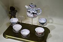 流纹胶釉茶具