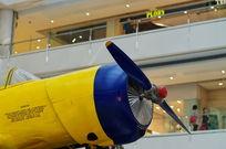 飞机螺旋桨特写