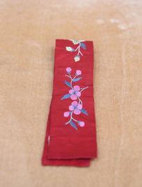 民国红绸绣带