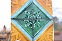 几何图案装饰彩雕