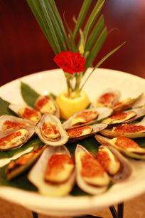 中国餐饮美食辣炒花蛤