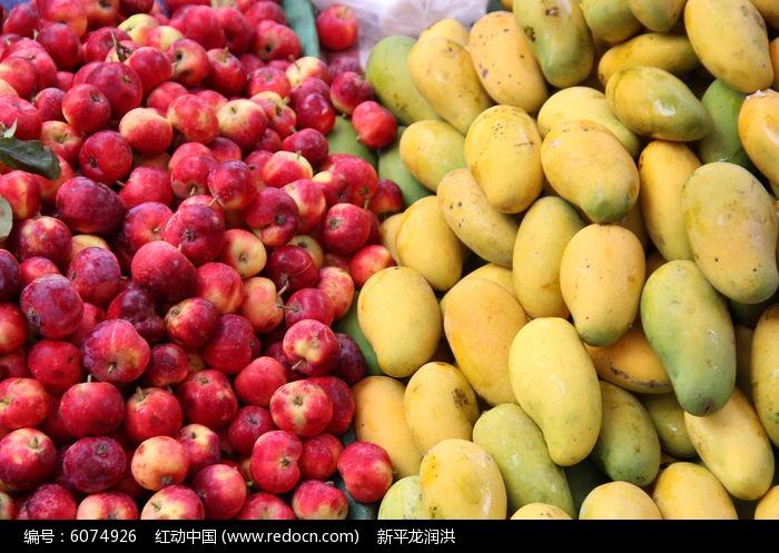 山顶的花红果和山脚的芒果高清图片下载 红动网