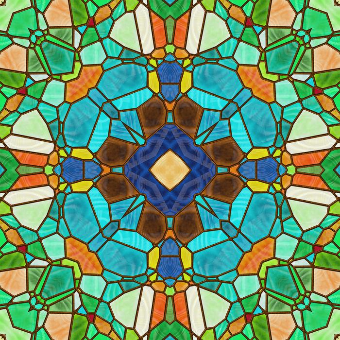 彩色玻璃图片