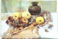 静物水果水彩画