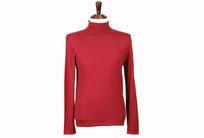修身版薄长毛衫深红色