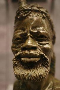 津巴布韦国礼石雕老人头像