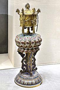 清铜珐琅八宝宝幢