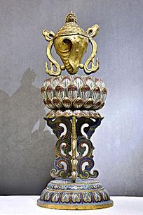 清铜珐琅八宝法螺