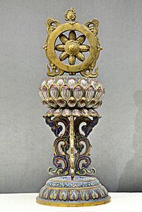 铜珐琅八宝法轮