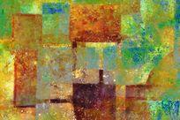 电分抽象油画高清图片