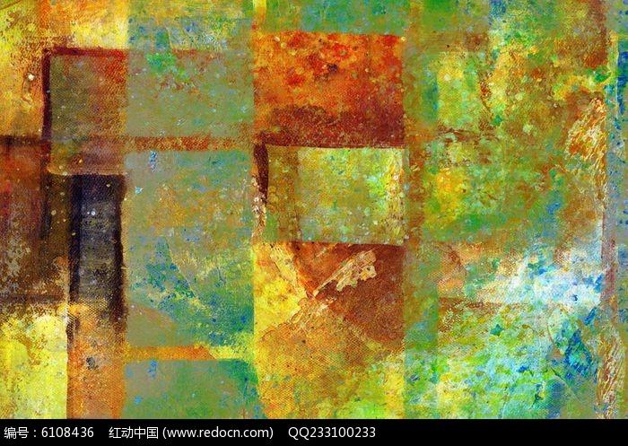电分色块抽象油画图片,高清大图_插画绘画素材