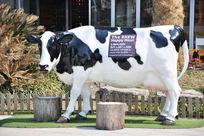 户外的奶牛雕塑