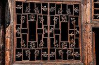 明清吉祥木雕窗