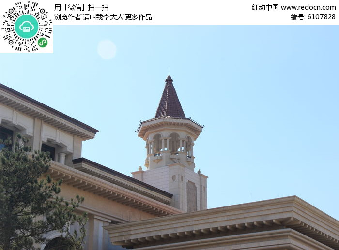 欧式屋顶建筑图片