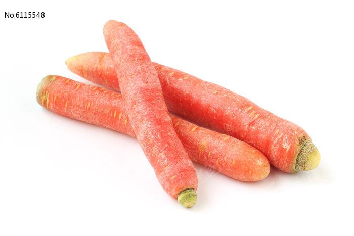白背景上的胡萝卜