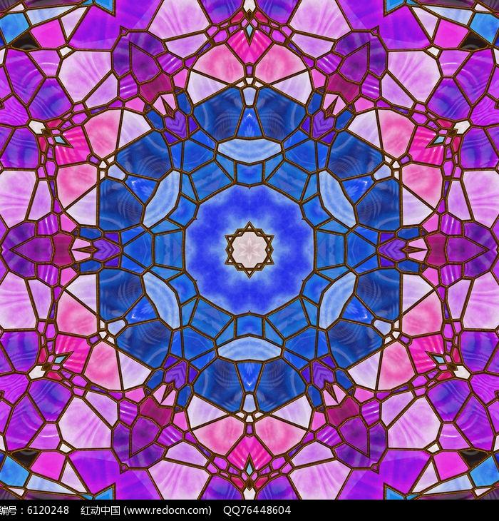 国外玻璃手绘彩色抽象艺术