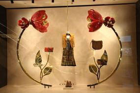 奢侈品展柜玫瑰服饰