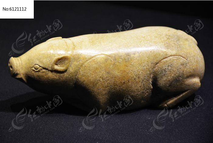 玉雕猪图片,高清大图_文物古董素材