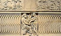 哲学家玉缪斯女神对话石棺
