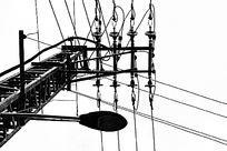 低压线和路灯