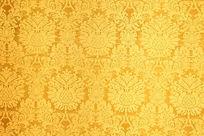 金色花卉花纹背景图