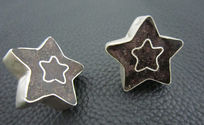 可爱星星图案创意耳钉