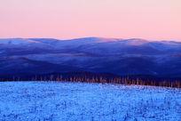 林海雪原夕照风光