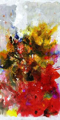 流彩抽象油画背景墙壁画