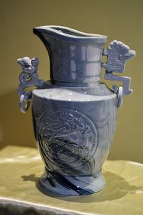 龙纹兽耳胶釉壶