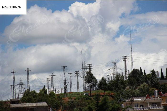 新平110kv变电站外景图