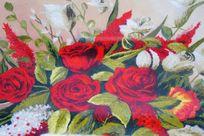 针织花朵图案