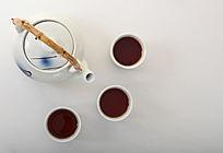 45°角茶具摄影图