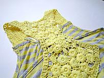 儿童编织花卉图案吊带装