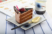 美味的巧克力蛋糕