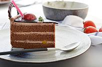 美味诱人的巧克力蛋糕