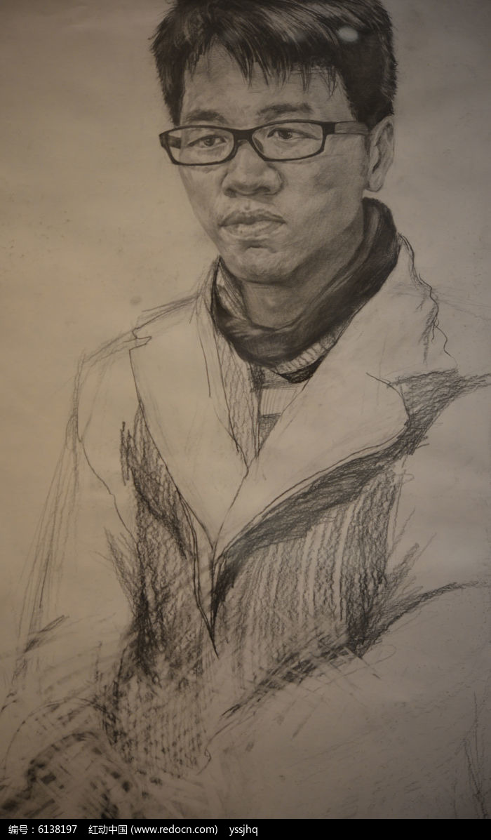 铅笔画男孩