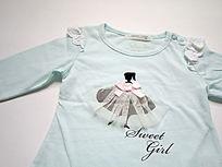 跳舞的小女孩图案外贸儿童T恤