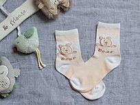 外贸小熊图案童袜