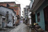 乡村街区的安静摄影