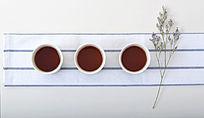 小清新茶杯顶视图