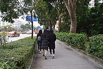阳江车站的路摄影