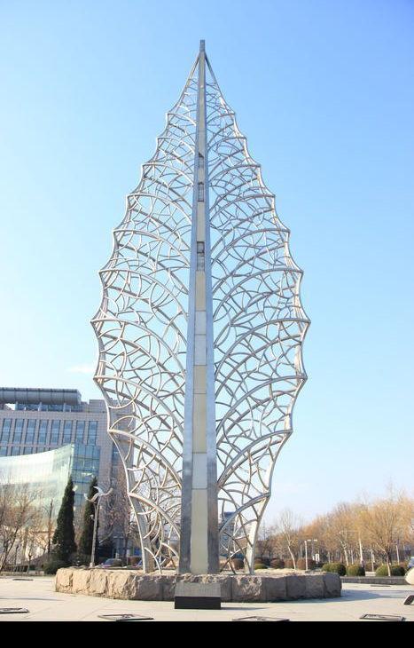 叶子形状的雕刻高清图片下载 红动网