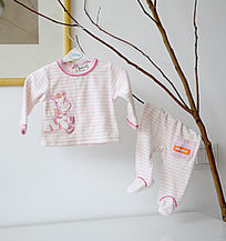 婴儿爬爬衣斑马图案