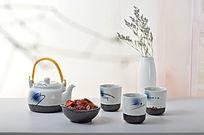 中国风手绘茶具套装摄影
