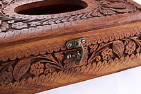 木雕抽纸盒锁扣