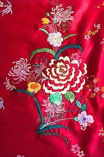 刺绣菊花图案