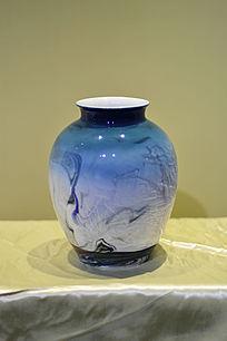 荷塘夜色胶釉罐