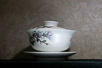兰花花朵图案茶盅