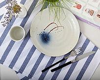 日式手绘陶瓷圆盘