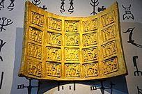 金色墙体装饰